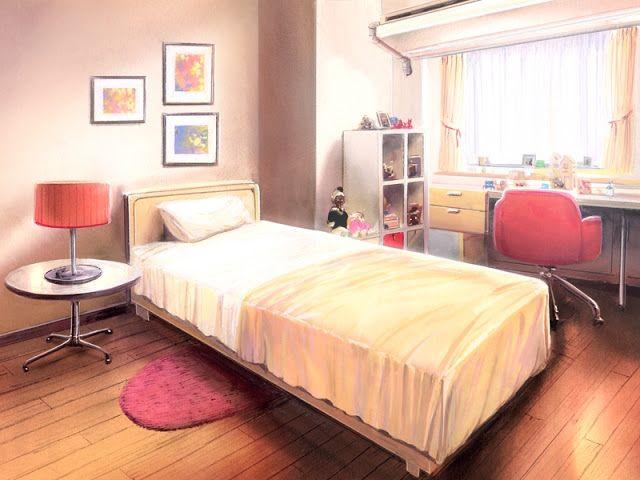 Bedroom (Anime Background) Quarto japonês, Cenário anime