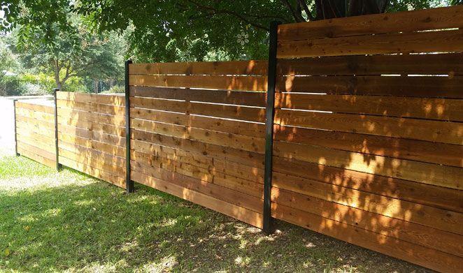 Custom Wood Fence Austin Tx Horizontal Cedar Picket Fences