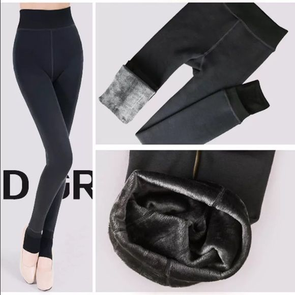 Sexy and Warm High Quality Fleece Lined Leggings Sexy and Warm Fleece Lined Leggings. These are a must for Winter! Material: Fleece lined Spandex. Available in Black, Gray, Navy Blue, Dark Green, Brown and Wine Red Size: One Size Fits Sizes Xtra Small to Medium. I would recommend these leggings for women no taller than 5ft 3inches.  Please leave me a comment with the color you would like  Pants Leggings