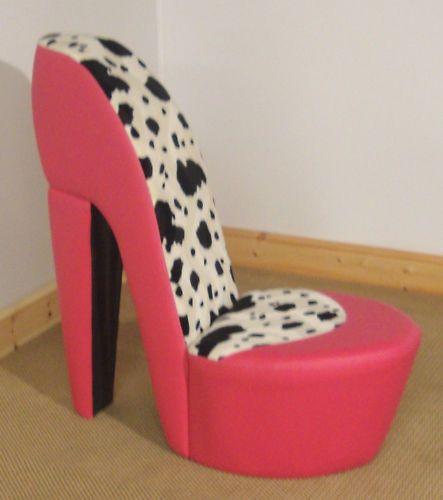 funky stiletto / high heel chair animal print | sillas