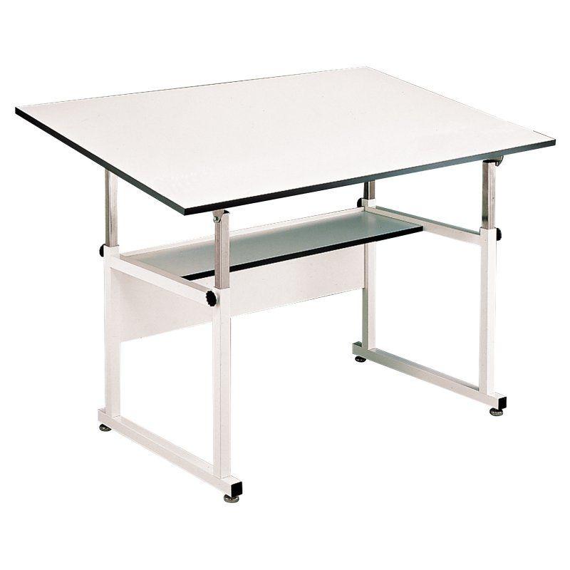 Alvin Workmaster Adjustable Drafting Table White   WM72 4 XB