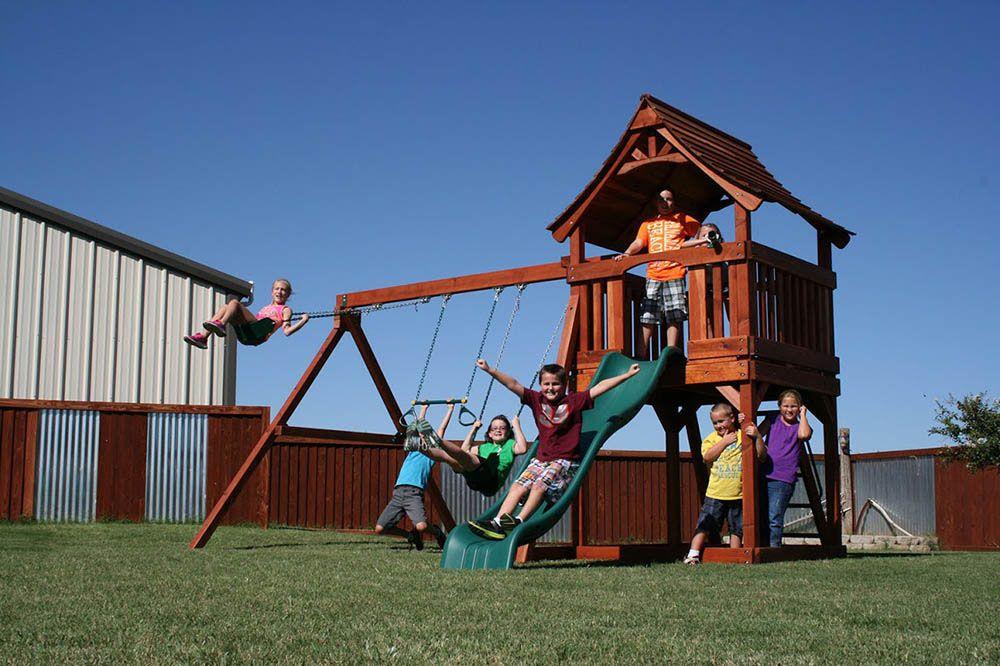 The Backyard Fun Factory Fun Shack Is A 5u0027 Quality Redwood Play System, Made