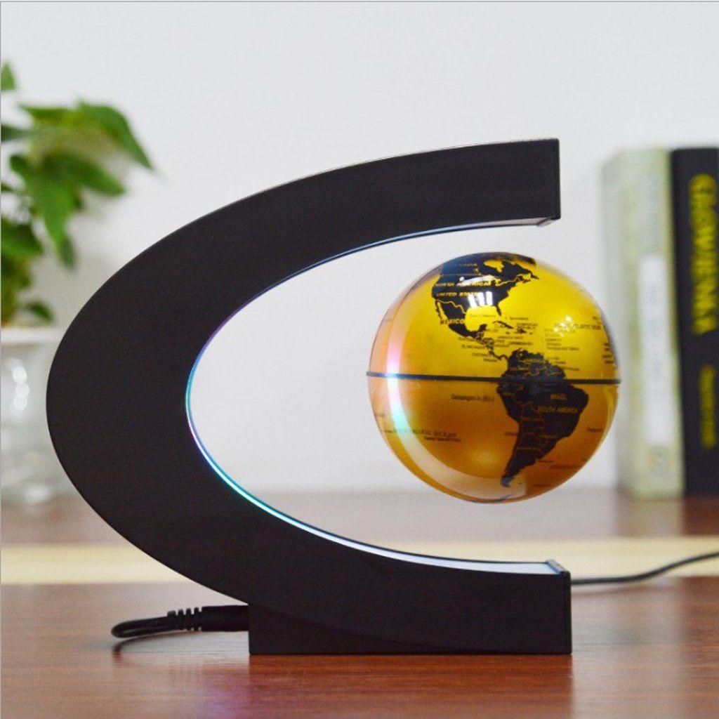 Floating Tellurion Globe Shape Magnetic LED Lamp Levitation Fashion Home Decor