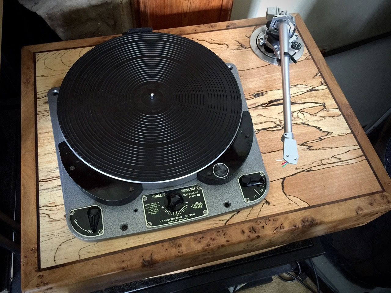 Audio Grail BBC DRD5 Garrard 301 Turntable in 'Cusworth