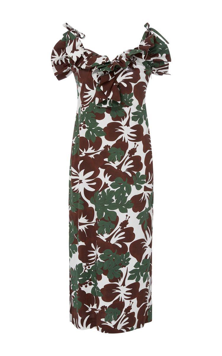 ROSIE ASSOULIN Blooming Onion Midi Dress. #rosieassoulin #cloth #dress