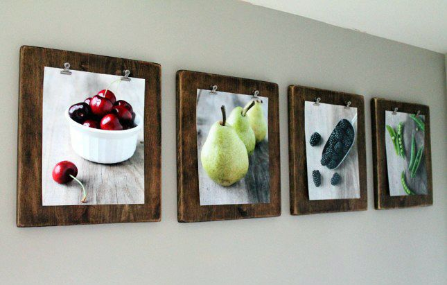 DIY these beautifully stained clipboards to showcase your favorite photos.