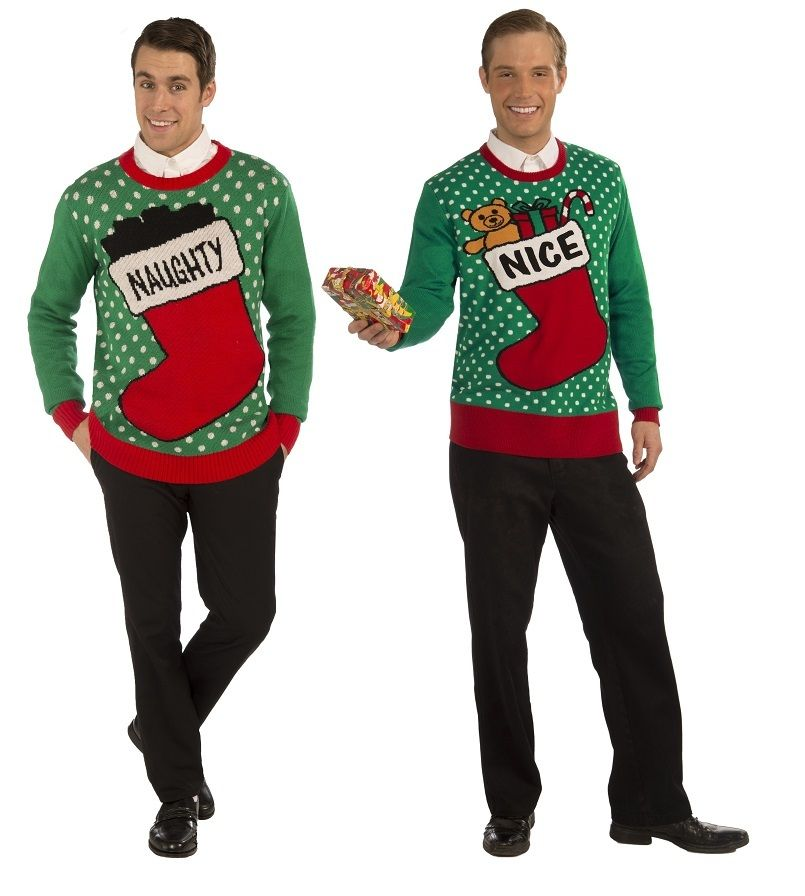 Naughty Amp Nice Set Of 2 Christmas Sweaters For Couples By