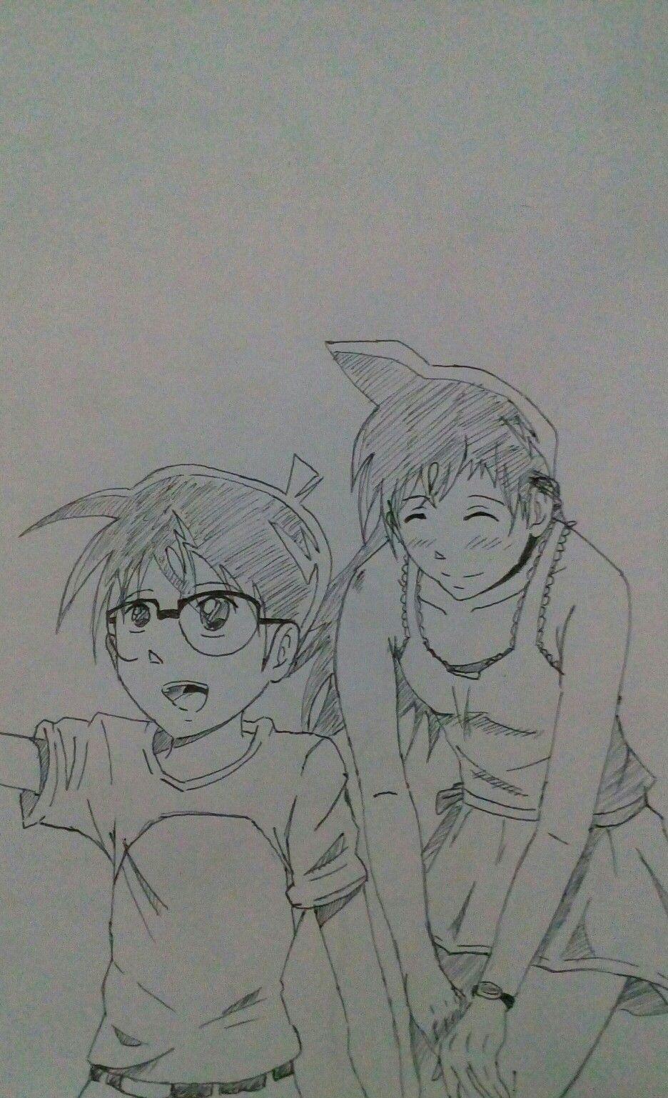Conan X Ran Anime Drawing