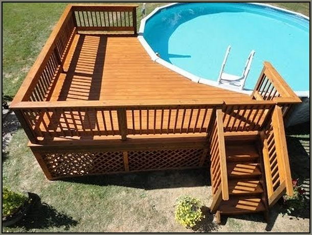 Above ground pool deck ideas on budget home xmas - Above ground pool deck ideas on a budget ...