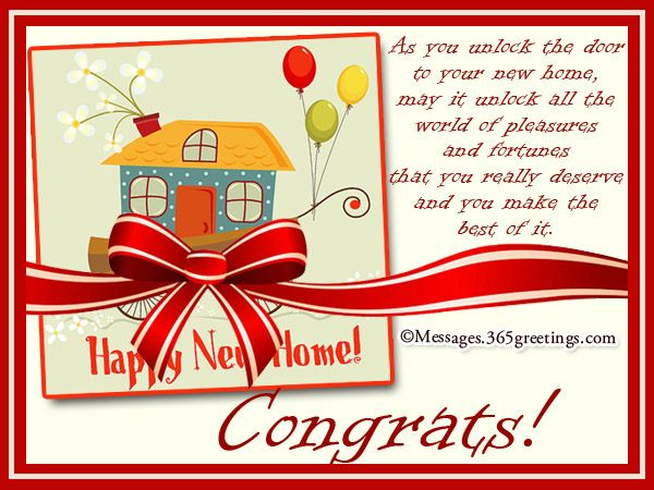 New Home Messages And Wishes 365greetings Com New Home Quotes Happy Birthday Invitation Card New Home Card Message