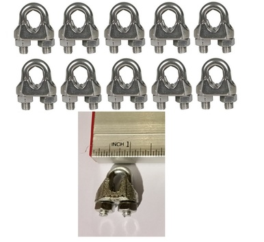Cable Clamps 3 16 U Bolts Galvanized Wire Rope Clamps Clips 10 Pack Rope Clamp Clamps Rope