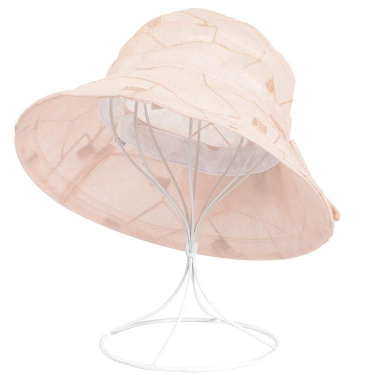 4efffa5ae94 Women Summer Breathable Chiffon Flower Bow Bucket Hat Casual Sunscreen Visor  Fisherman Hat