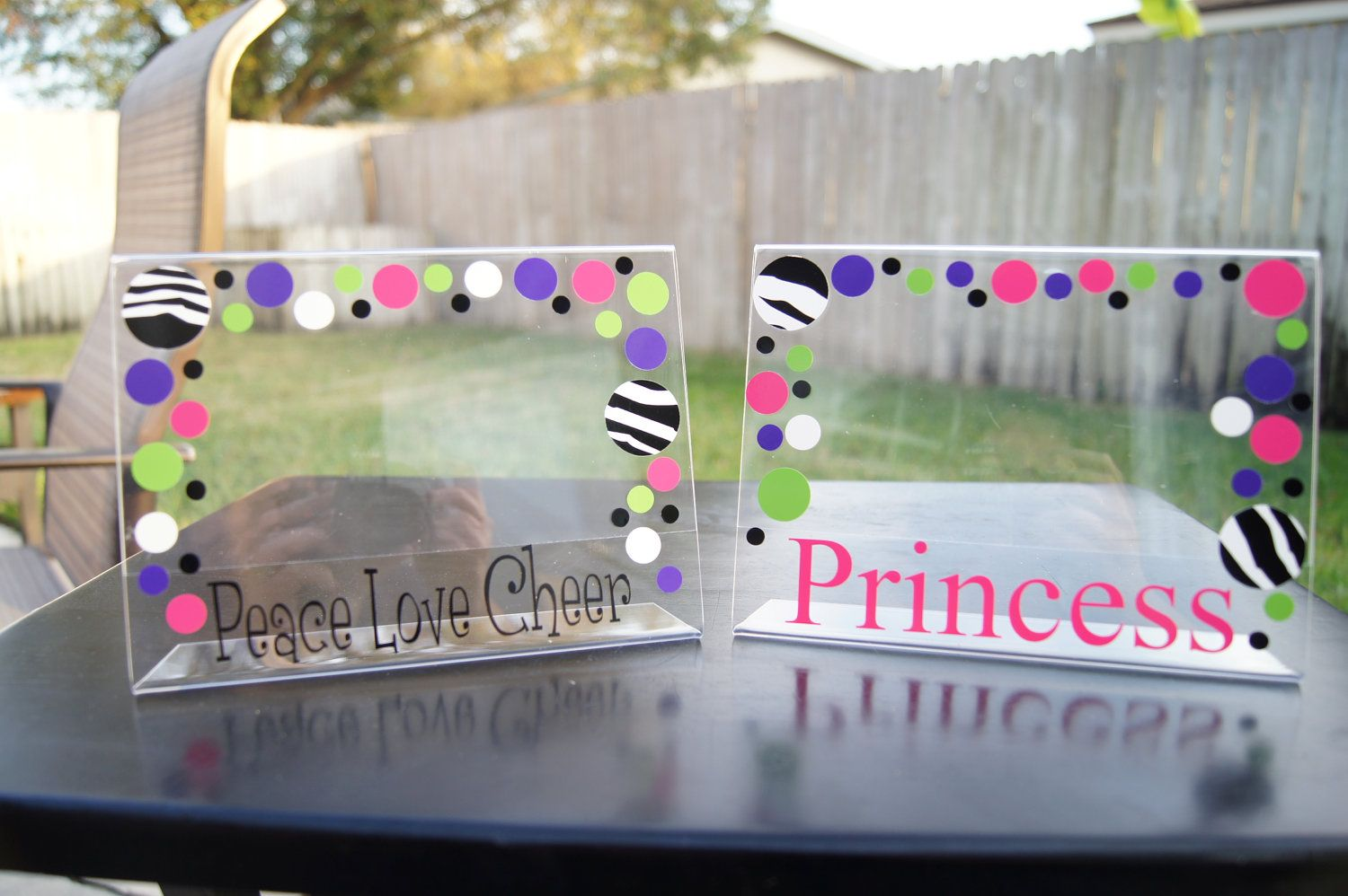 Personalized Acrylic Picture Frame Cheer Princess by rgoldhammer ...