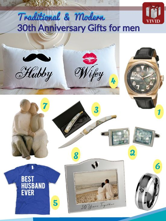 30th Anniversary Gift Ideas For Him With Images 30th