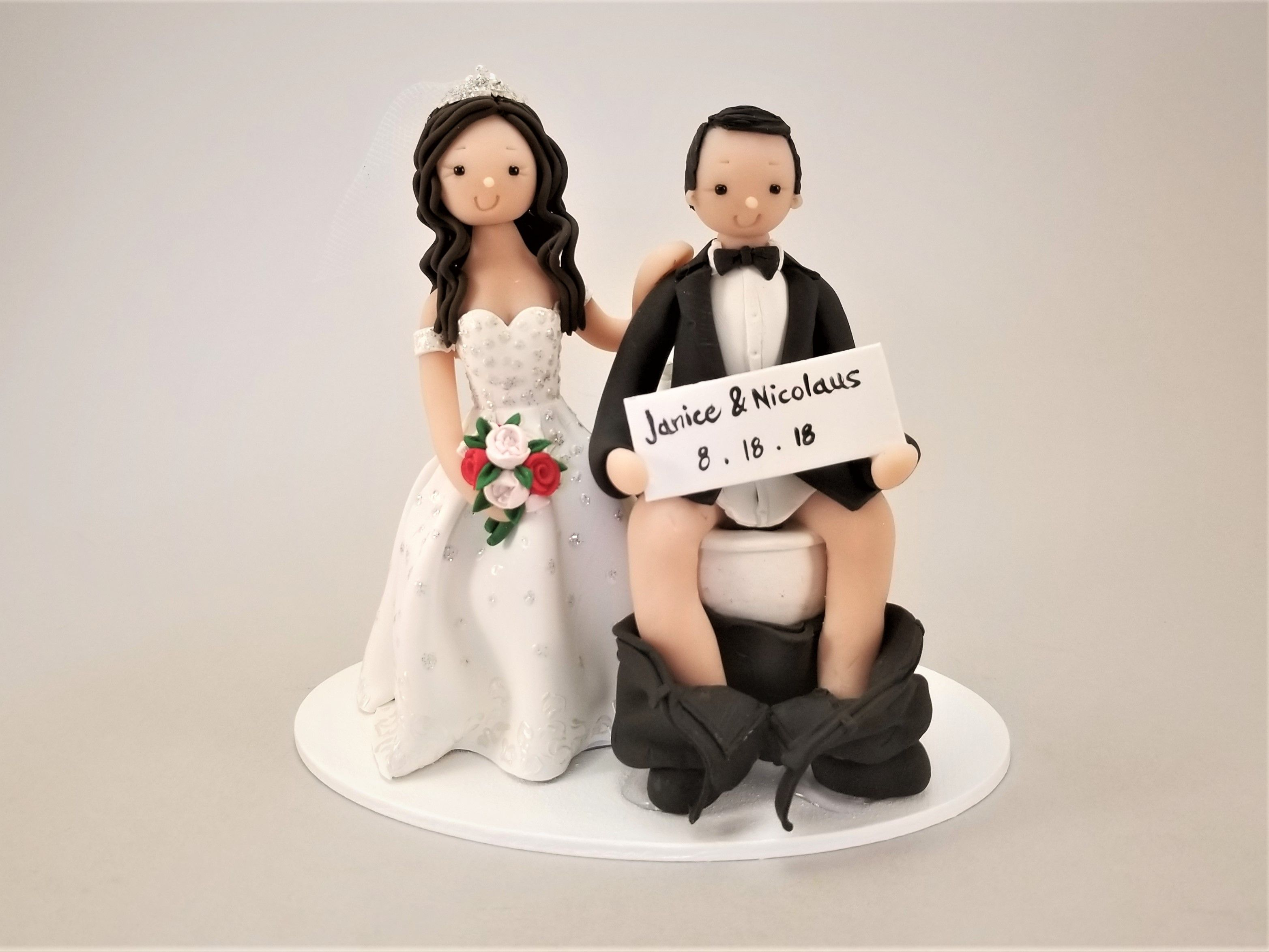 The Toilet Seat Wedding Cake Topper By Mudcards Grooms Cake Fishing Wedding Topper Wedding Cake Toppers