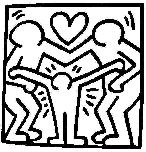 Coloring pages keith haring drawing keith haring for Keith haring figure templates
