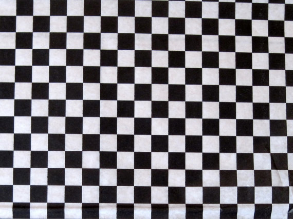 Wax Paper 25 Sheets Of Black And White Checkered Wax Paper Deli