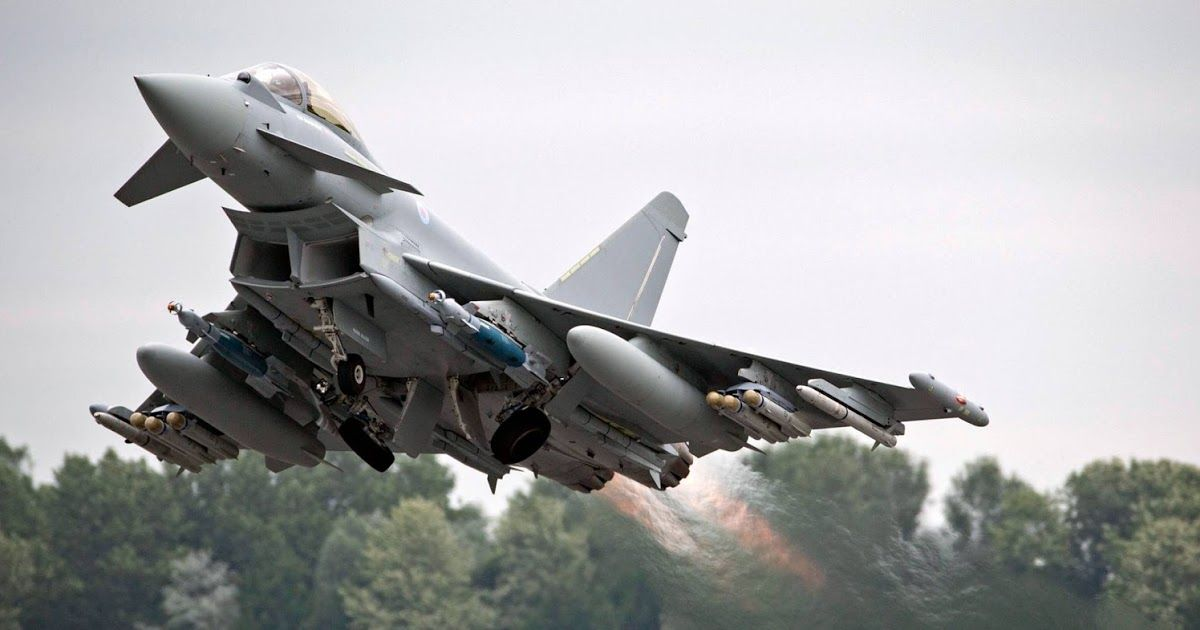 The Eurofighter Typhoon is a twin-engine, canard–delta wing, multi-role  fighter. | Fighter jets, Military jets, Aircraft