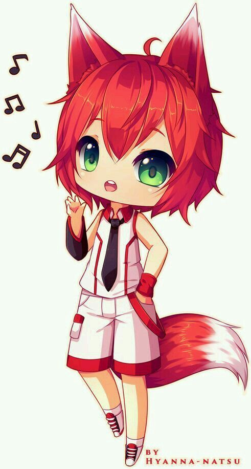 Cute chibi neko guy | Anime/Vocaloid | Pinterest | Chibi ...