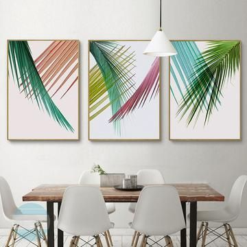 Minimalist Plant Gallery Wall Set of 3 Art Prints -   13 minimalist planting Art ideas