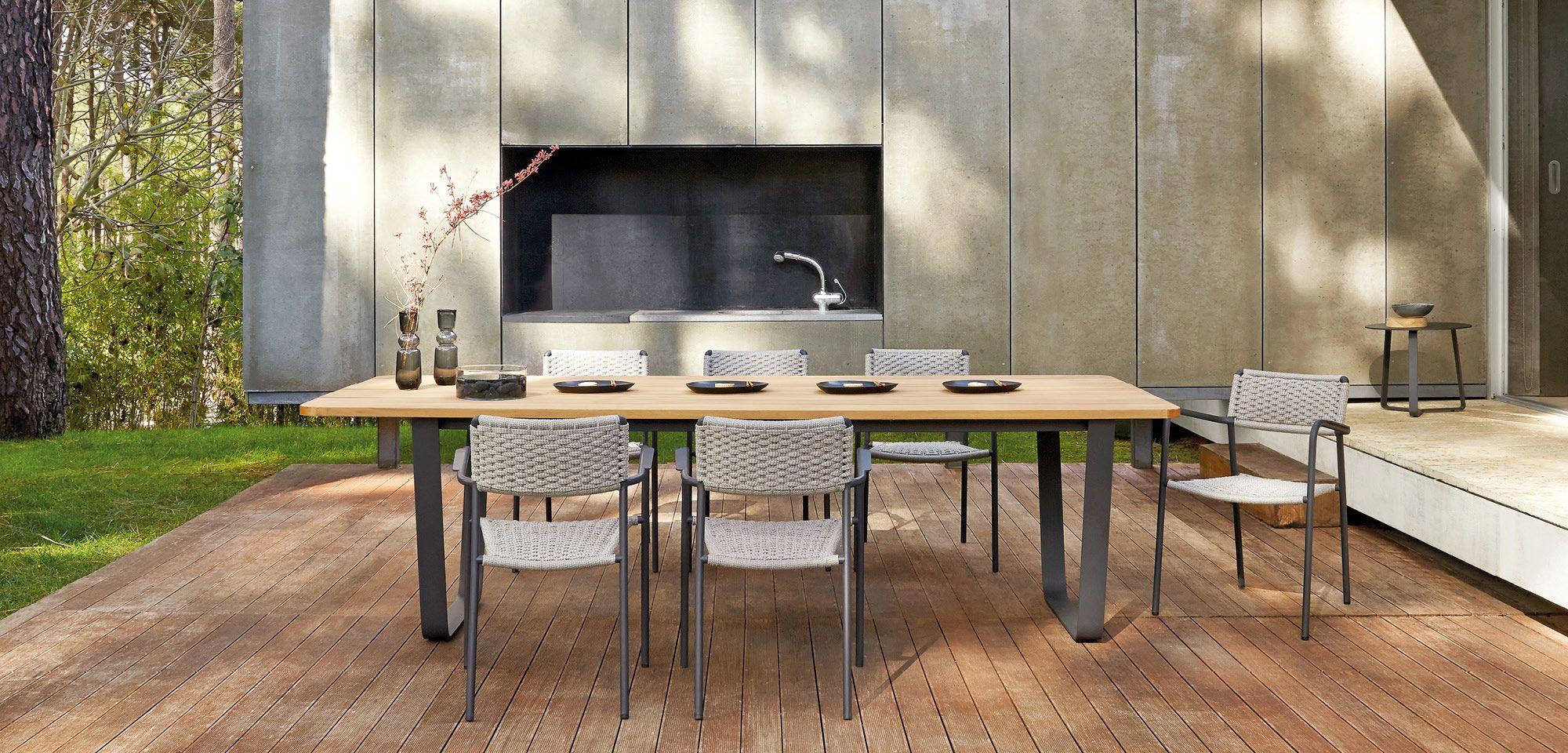 Mesa de comedor / de jardín / moderna / de cerámica - AIR - MANUTTI ...