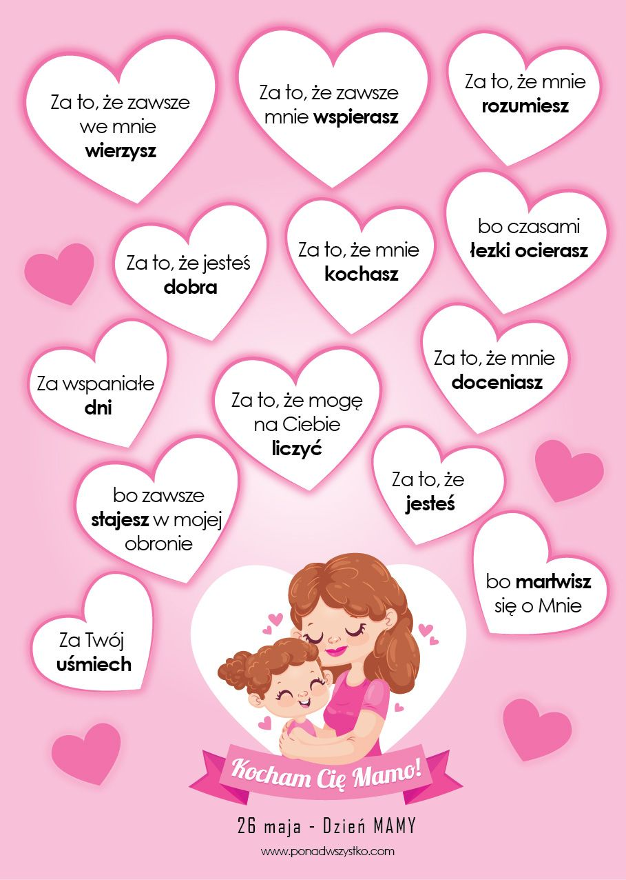 Dzien Mamy Darmowe Materialy Do Pobrania Na Dzien Mamy Happy Mother S Day Gif Kids And Parenting Mothers Day Gif
