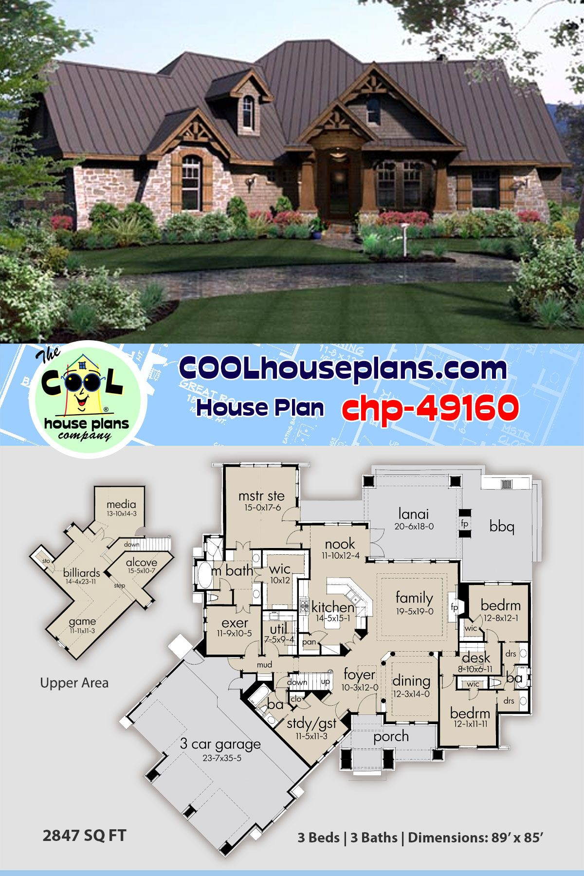 House Plan Chp 49160 With Images Tuscan Style Homes Best