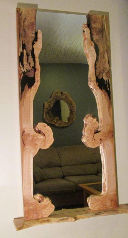 Wall Mirror Unique Mirror Burl Vertical Mirror By