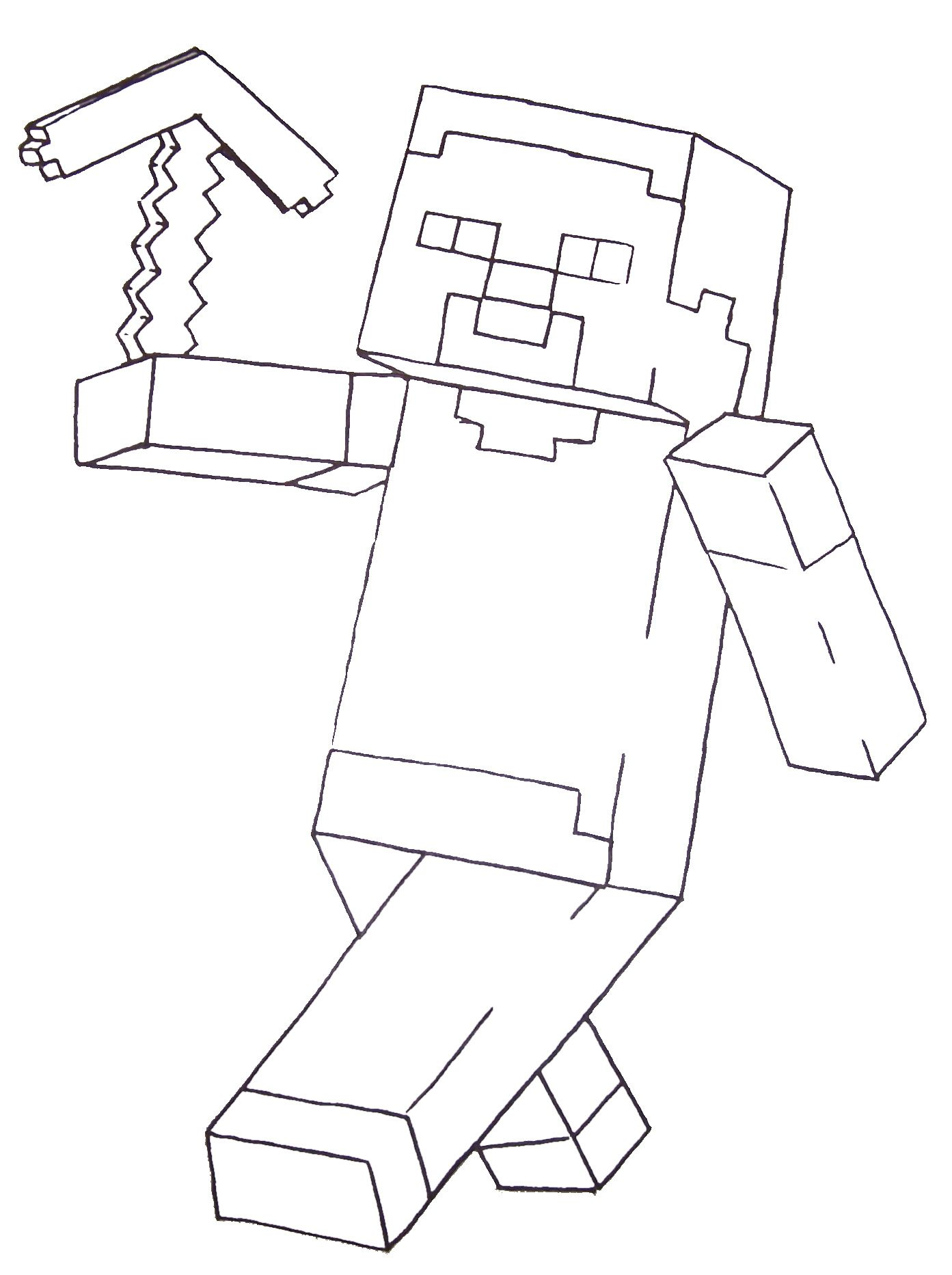 Minecraft Steve Coloring Pages Printable