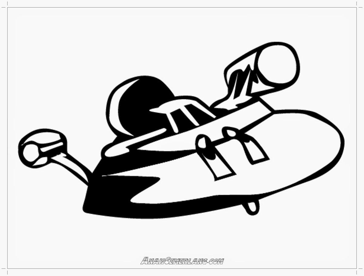 Gambar Pesawat Alien Untuk Mewarnai Warna Gambar Binatang