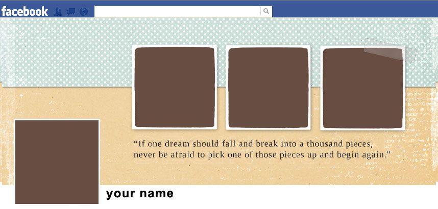 Facebook Timeline Cover Template Scrapbook Ideas Pinterest
