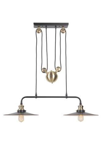 Patriot Lighting Persis Black 2 Light Pulley Island Light With Images Island Lighting Lighting Prospect House