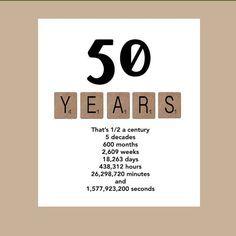50 compleanno carta di compleanno Milestone di DaizyBlueDesigns ...