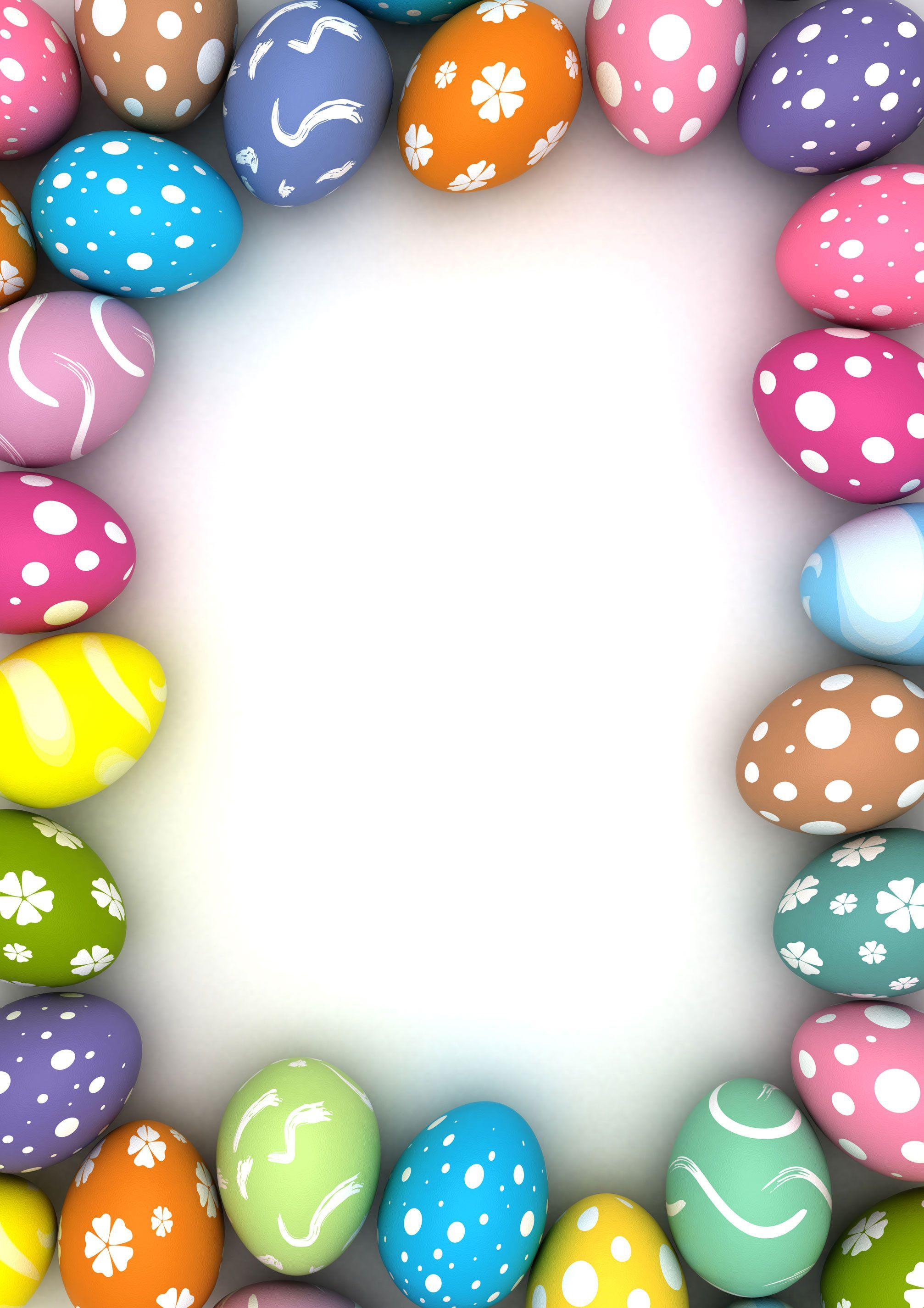 Patterned Backdrops Colored Eggs Background Easter