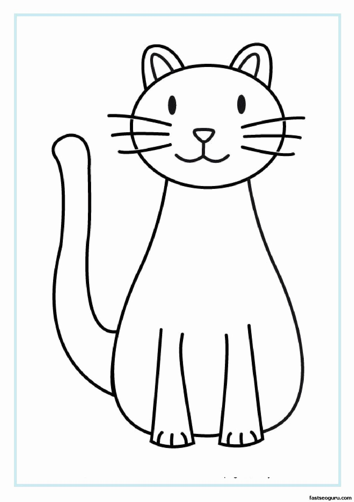 cats coloring pages free printables in 2020  kids