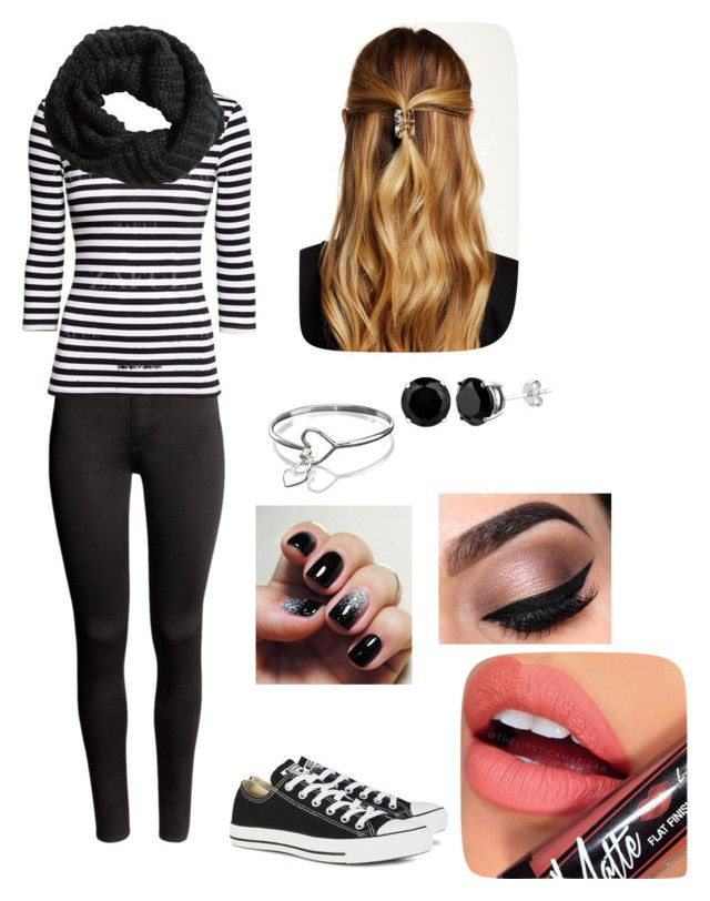 """""""Untitled #81"""" by bestiesareforever8-22-12 on Polyvore featuring H&M, Converse, Natasha Accessories and Fiebiger"""