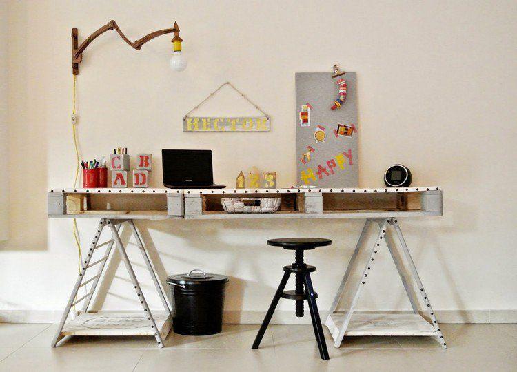 Bureau en bois idées diy très cool en palette europe kos