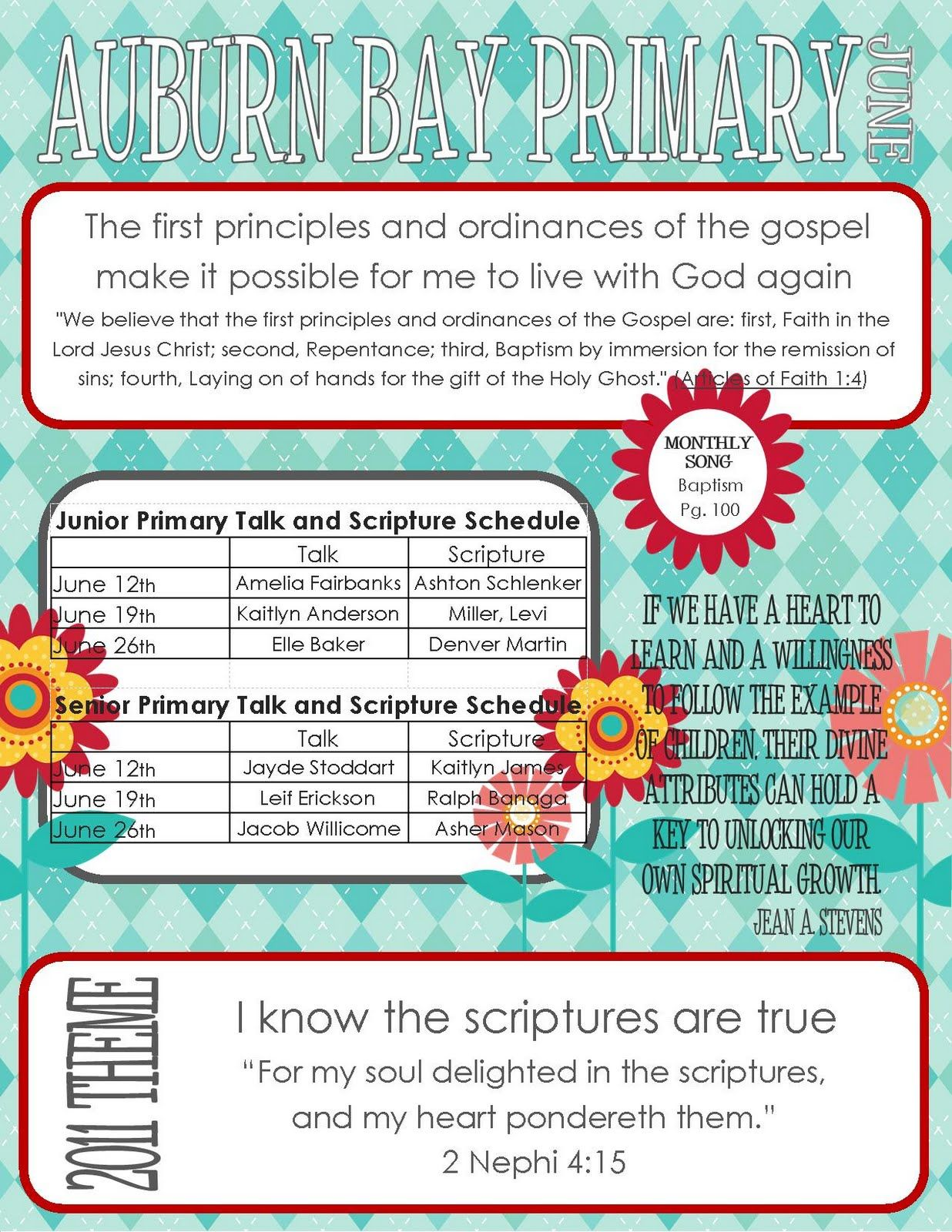 lds primary newsletter template ideas google search primary