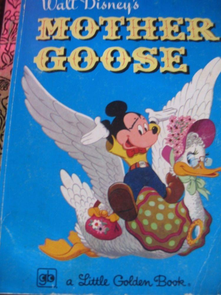 Details about little golden bookmother goose walt disney