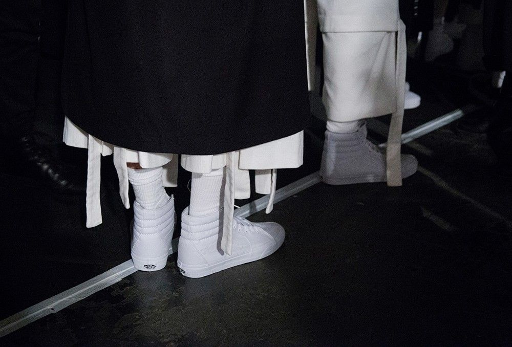 Van hi tops and belted trousers at Nicomede Talavera MAN AW15 LCM. See more here: http://www.dazeddigital.com/fashion/article/23135/1/nicomede-talavera-at-man-aw15