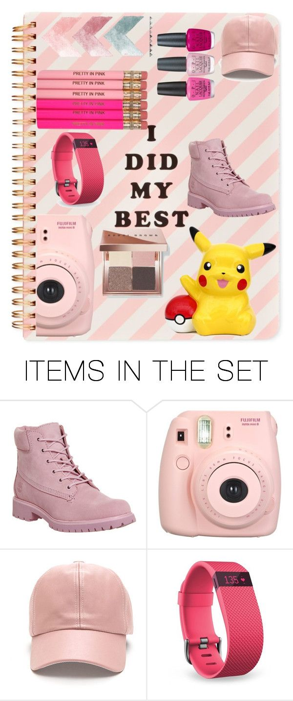 """""""Pretty in Pink"""" by zoey-berry ❤ liked on Polyvore featuring art, timberland, boobibrown and diybookcover"""