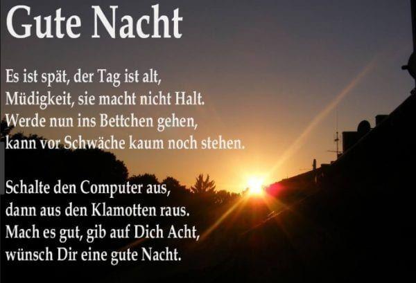 Gute Nacht Gedichte Verliebte Gute Nacht Sprüche Für