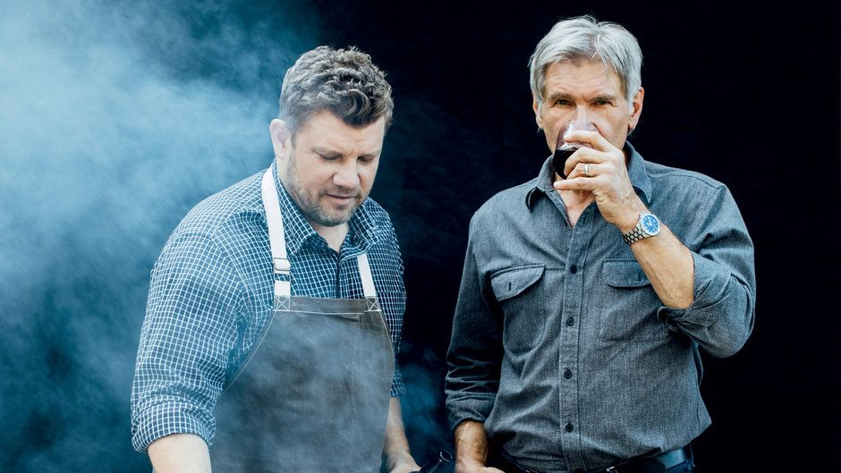 Harrison Ford S Father S Day Grill Off Harrison Ford Son Harrison Ford Ford