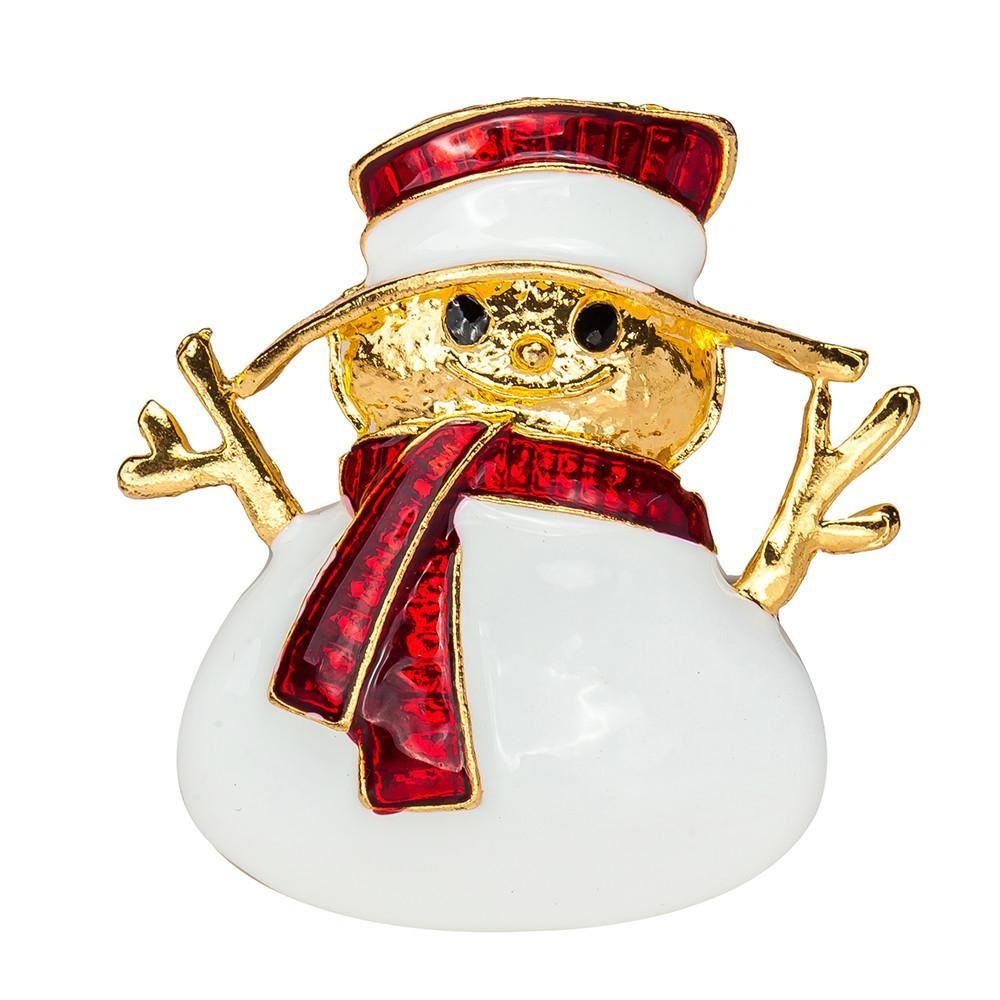 Brooch christmas snowman brooch fashion chain jewelry christmas