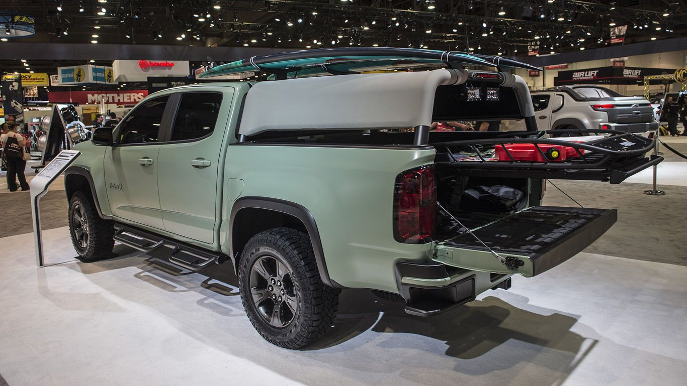 Chevrolet Teams Up With Arel Company Hurley To Build A 2017 Colorado Z71 Into Great Surf Vehicle The Truck Is On Display At 2016 Sema Show