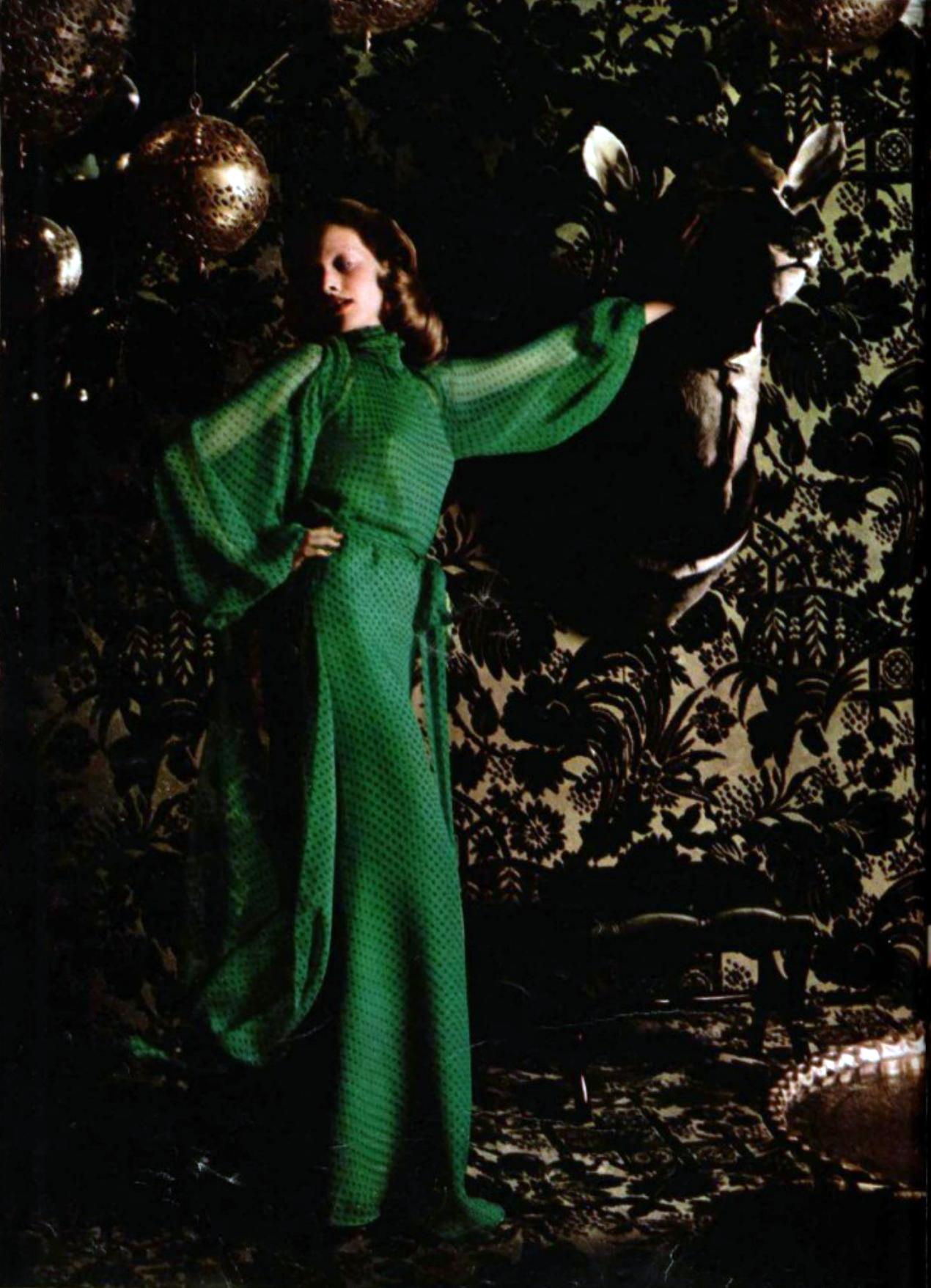 Yves Saint Laurent L'officiel magazine 1970s