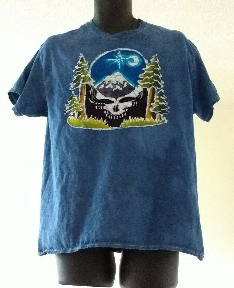 Mens Short Sleeve T-Shirts Men Tee Embroidery Grateful Dead Steal Your Face