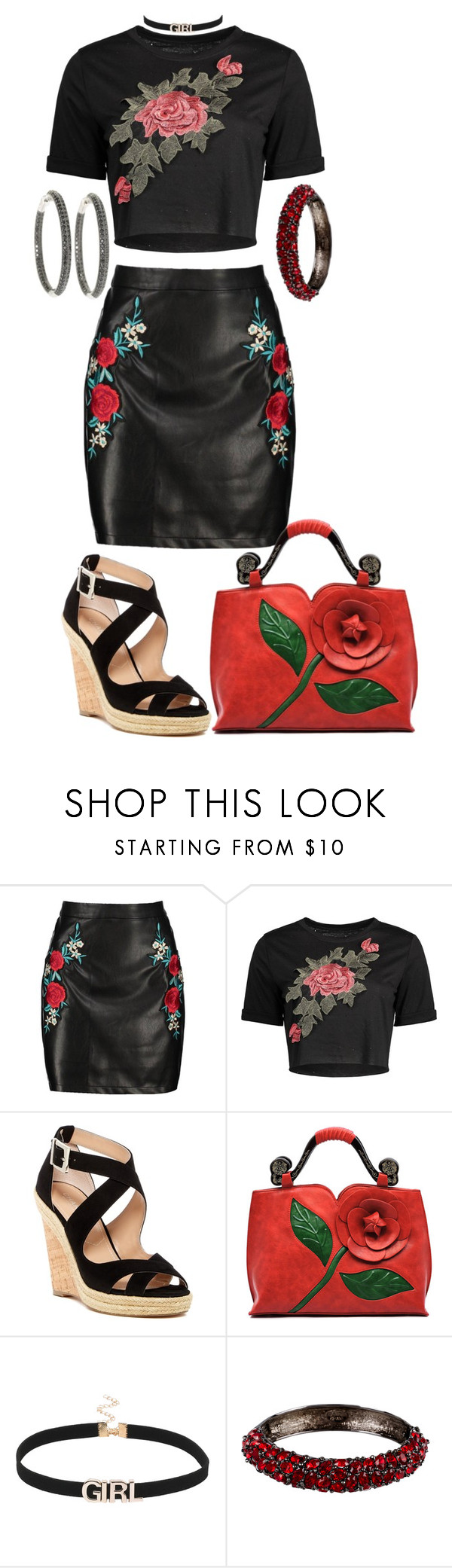 """One of a Kind"" by shirley-de-gannes ❤ liked on Polyvore featuring Boohoo, Charles by Charles David and Kenneth Jay Lane"