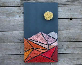 Montana state DIY string art pattern with instructions