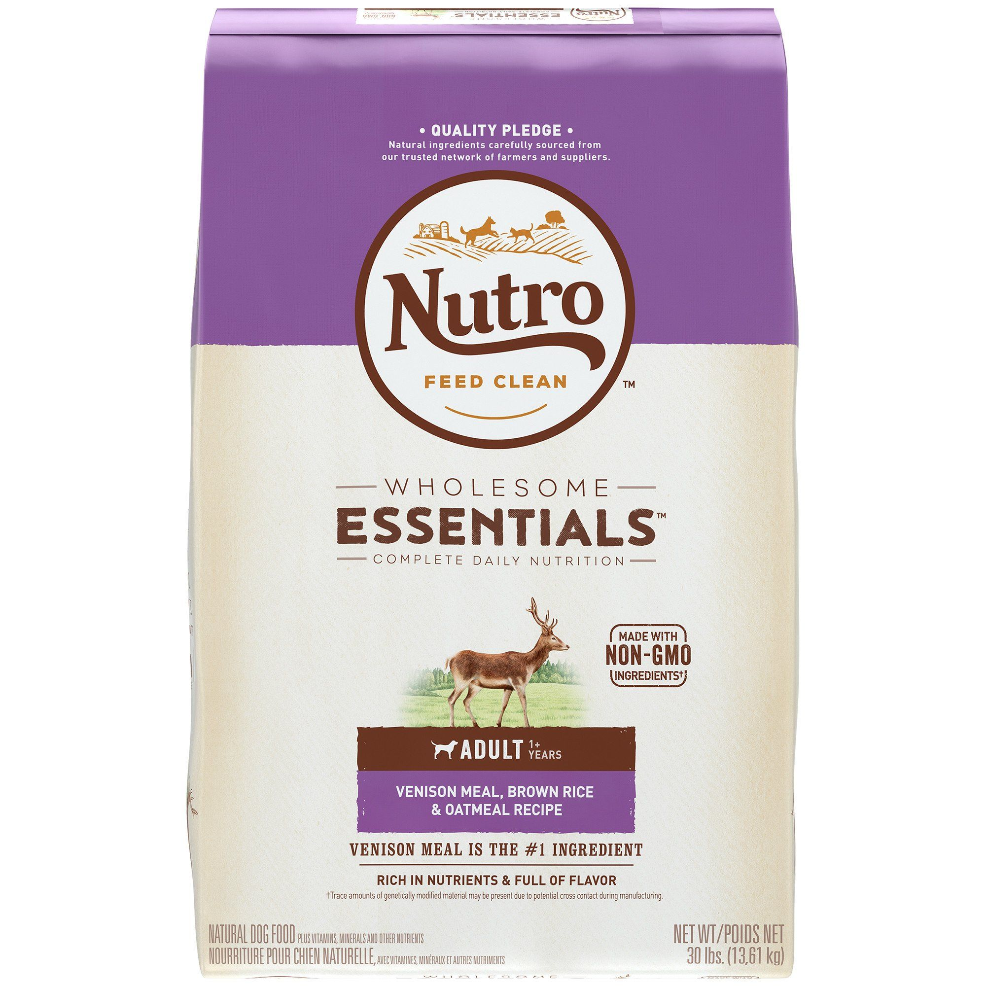 Nutro Wholesome Essentials Venison Meal Brown Rice Oatmeal